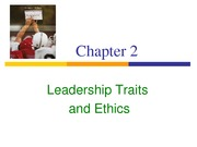 _Leadership Traits and Ethics