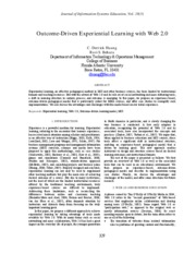 Outcome Driven Experiential Learning