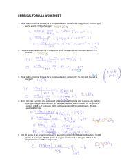 empirical_formula_worksheet_2.doc.pdf - EMPIRICAL FORMULA WORKSHEET 1 What is the empirical formula for a compound which contains 0.0134 g of iron