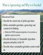 Lecture 1- What is Agroecology and Why is it needed.pdf