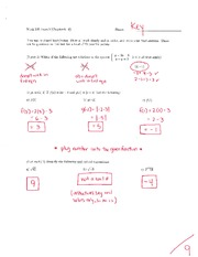 Math 125 Exam 2 Key On Intermediate Algebra