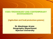 Lecture 3 [Agriculture]