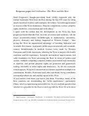 Response paper on Civilization.pdf