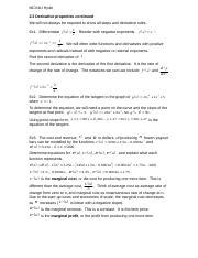 2.3 Derivative properties continued.doc