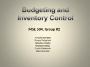 Budgeting & Inventory Control - Group 2.ppt