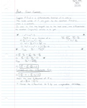 Notes on Exact Equations