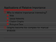 Relative-importance