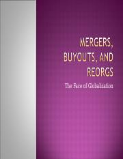 Mergers, Buyouts, and
