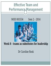 ETPM L8_teams as substitutes for leadership.ppt