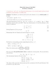 Exam 2 Solution on Calculus III Fall 2010