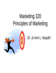 Marketing 320 Overview L10.ppt