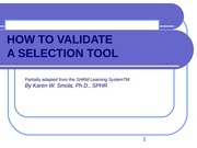 How to Validate a Selection Tool Info for Case 37