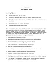 Chapter 10 (Time Value of Money)