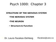 Psych+1000+-+Chapter+3A_1_+-+_Nervous+System+_+_Summer+2014_