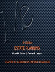 CHAPTER 13 GENERATION SKIPPING TRANSFERS