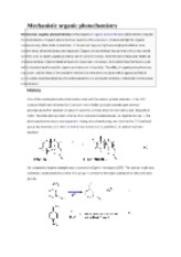 Mechanistic organic photochemistry