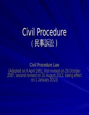 L10 - Civil Procedure