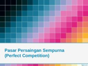 Perfect Competition 2015