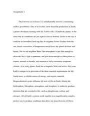 Essay on The Universe