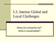 L3 What is Sustainability
