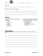 Worksheet #3_Water
