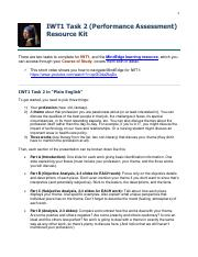 iwt1 task2 Free essays on wgu sst1 task 1 for students use our papers to help you with yours 1 - 30.