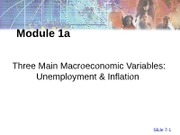Module 1a - Unemployment & Inflation