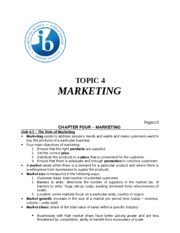 Topic 4 - Marketing