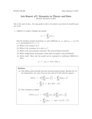 Lab Report #7 Dynamics in Theory and Data Solutions