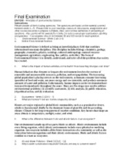 final exam env100