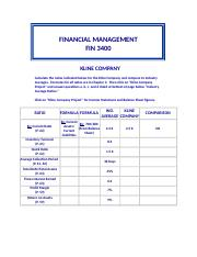 FIN_3400_Klein_Co__Spreadsheet_2013