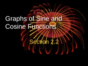 2.2 Graphs of Sine and Cosine Functions