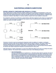 4W - Electrophilic Aromatic Substitution - 70088