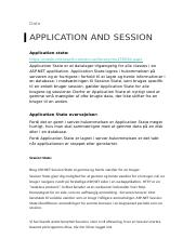 Application and session