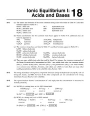 General Chemistry by Whitten, Atwood, Morrison Chapter 18 solutions