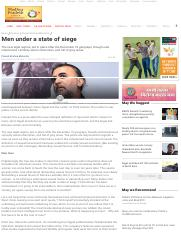 Men under a state of siege _ Palash Krishna Mehrotra, News - India Today
