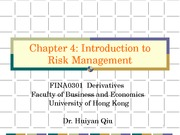 4) Introduction to Risk Management