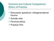 22209Feminist and Cultural Competence
