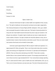 PHIL250 Final Health Care Candi Cassidy.docx