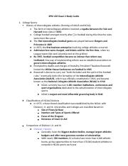 SPM 205 Exam 2 Study Guide