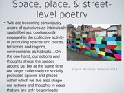 1. Sept 8 PPT - part II street level poetry -