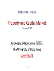 Capital and Property Market (2)