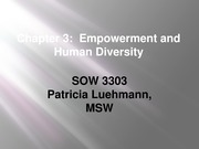 SOW 3303 Chapter 3 Empowerment and Human DIversity