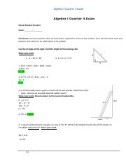Algebra I Quarter 4 Exam 10.doc