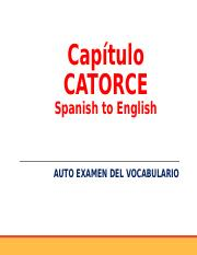 Capítulo CATORCE-vocabulario Spanish to Englsih.ppt
