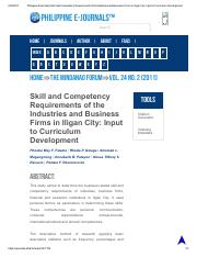 Philippine EJournals_ Skill and Competency Requirements of the Industries and Business Firms in Ilig