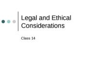 legal and ethical news ppt