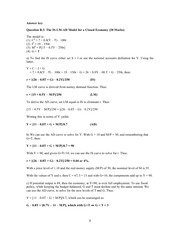 ECON 112 2012 Final Exam Long Answer Solutions