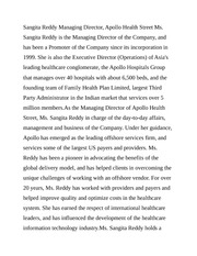Sangita Reddy Managing Director