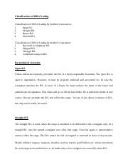 Classifications of Bill of Lading.docx